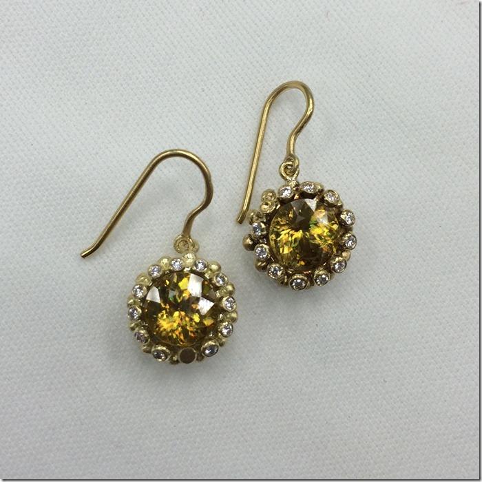 sphene for marchis earrings