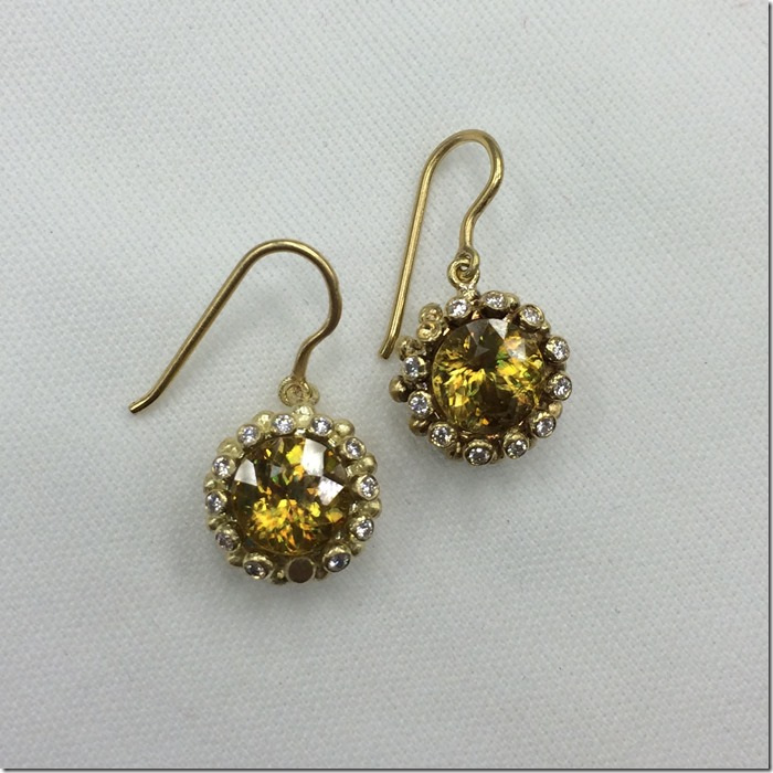 sphene for marchis earrings